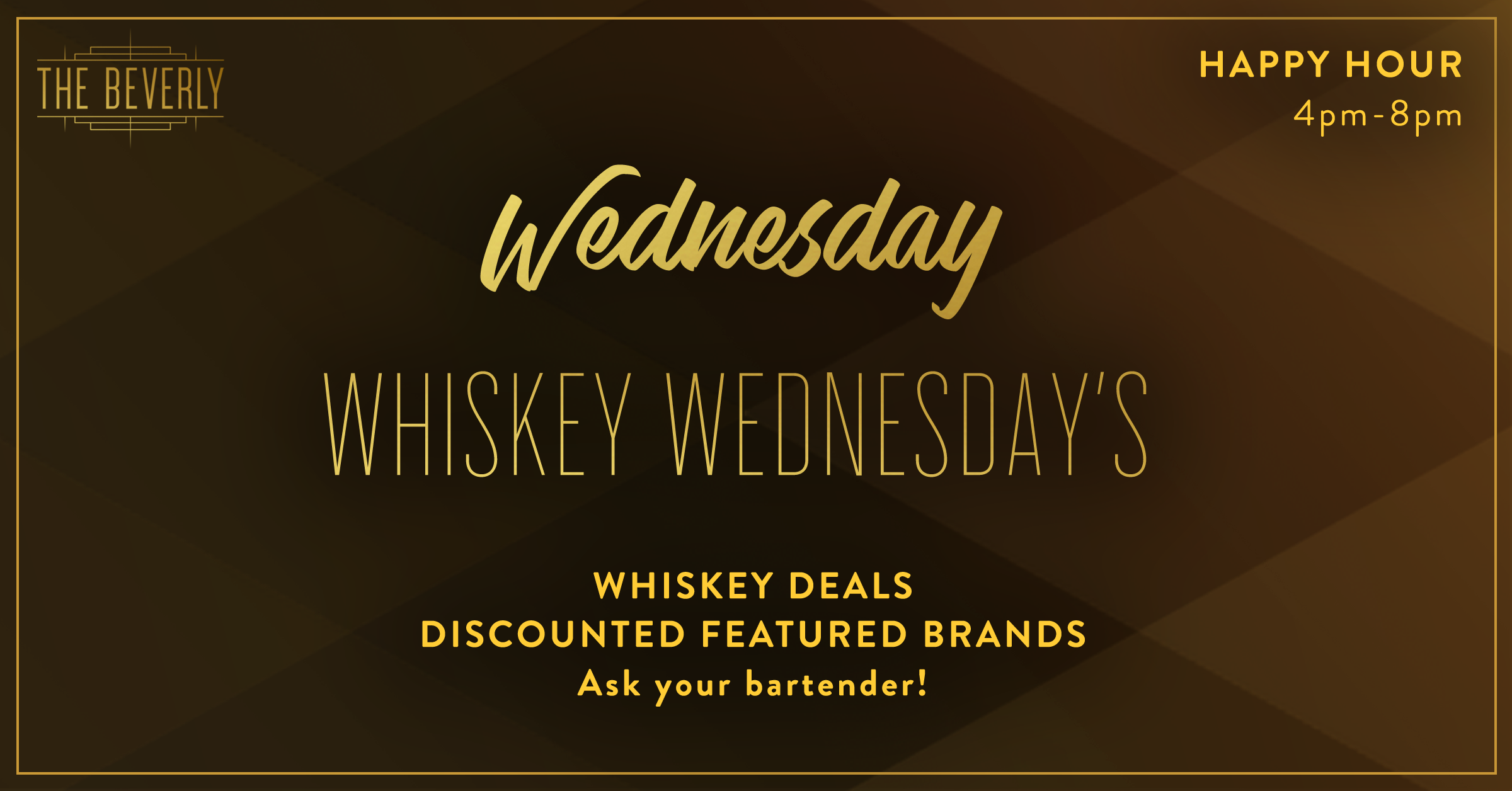 Whiskey wednesdays